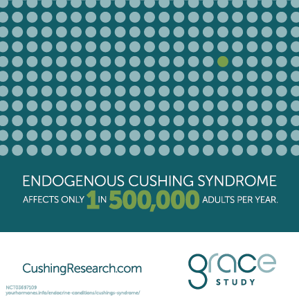 Endogenous Cushing syndrome affects only 1 in 500,000 adults per year.